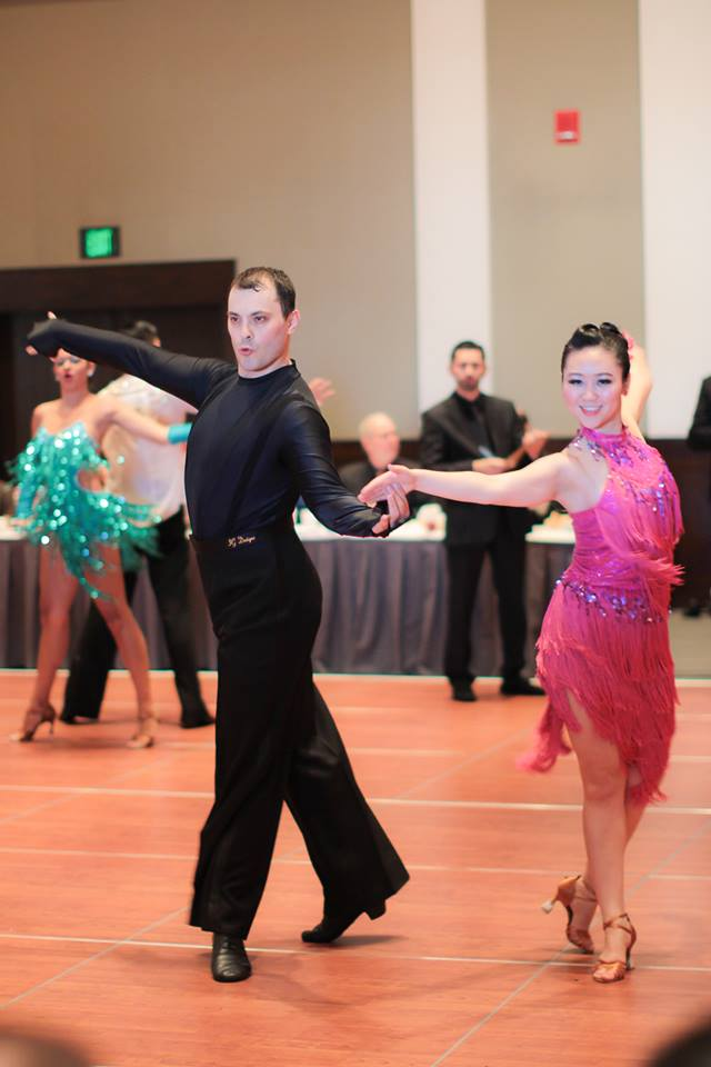 Aleksandr Biyevetskiy dancing with Nancy Li at Harvard Invitational 2014